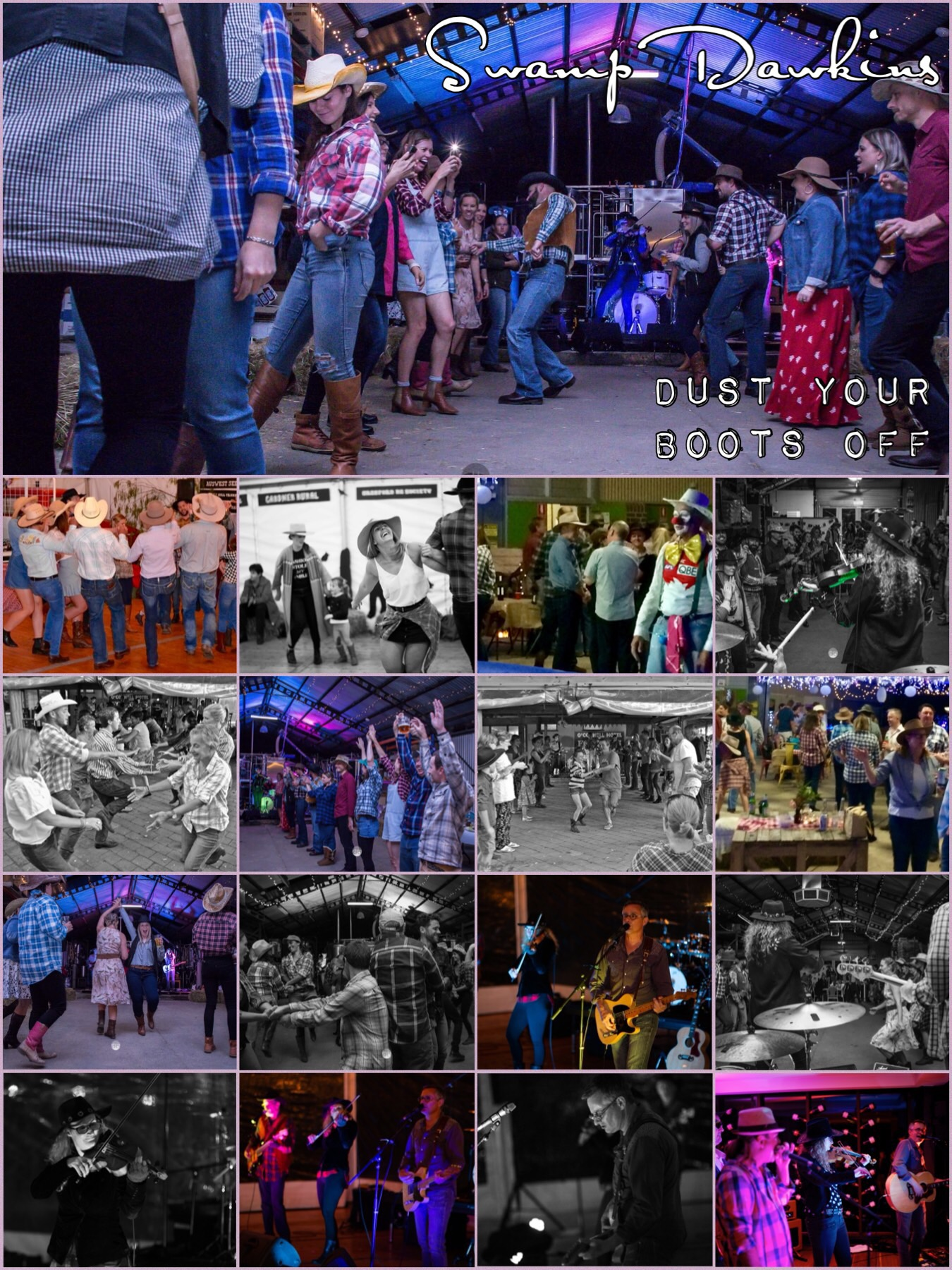 country dance, bushdance, hoedown, barn dance, honkytonk | Swamp Dawkins |  Live Music Dance Band